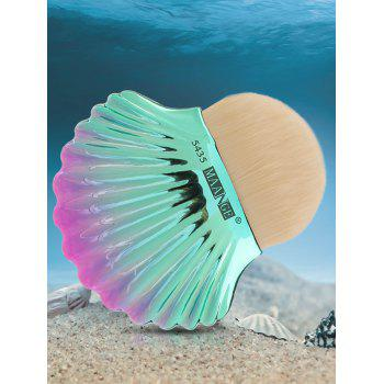 Two Tone Ocean Shell Plated Foundation Brush - WHITE WHITE