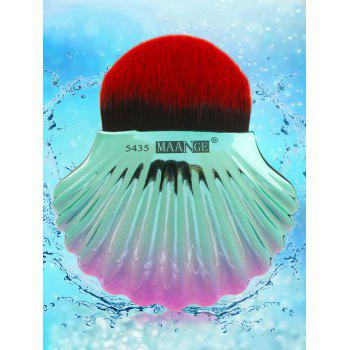 Two Tone Ocean Shell Plated Foundation Brush - BLACK RED BLACK RED