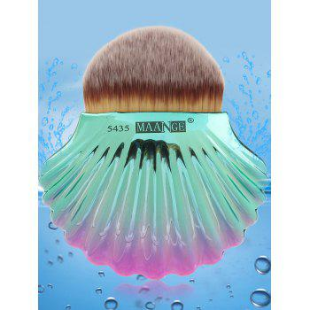 Two Tone Ocean Shell Plated Foundation Brush