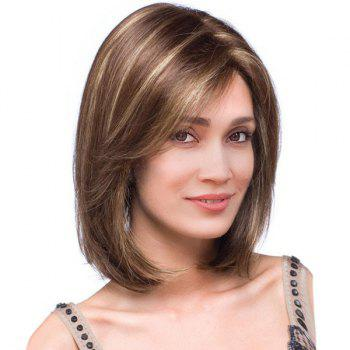 Short Side Part Highlight Straight Bob Colormix Synthetic Wig