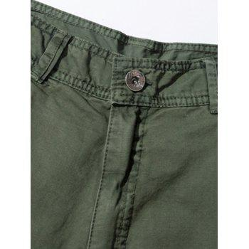 Pockets Embellished Straight Leg Cargo Pants - ARMY GREEN 30