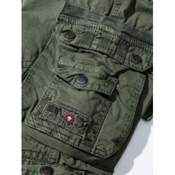 Pockets Embellished Straight Leg Cargo Pants - ARMY GREEN 38