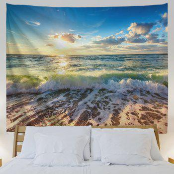 Beach Waves Print Tapestry Wall Hanging Art - COLORMIX W51 INCH * L59 INCH