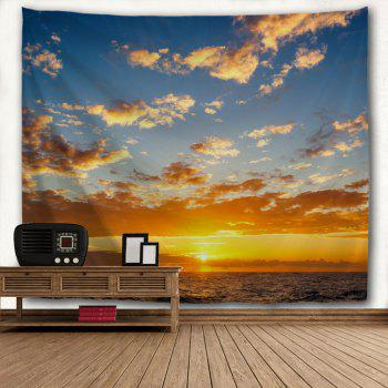 Ocean Sunset Print Tapestry Wall Hanging Art - COLORMIX W71 INCH * L91 INCH