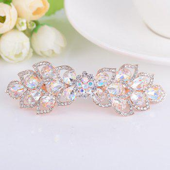 Rinestone Inlay Hollow Out Flower Shape Barrette