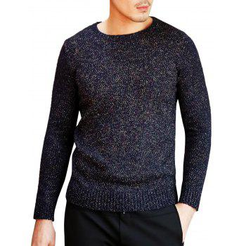 Heathered Pullover Crew Neck Sweater