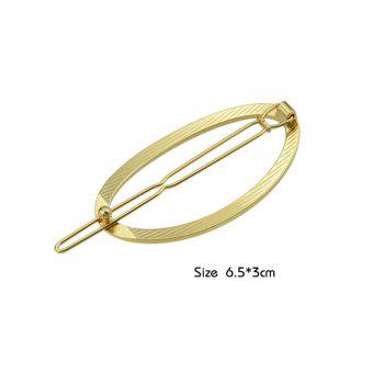 Decorative Alloy Oval Hairpin -  GOLDEN