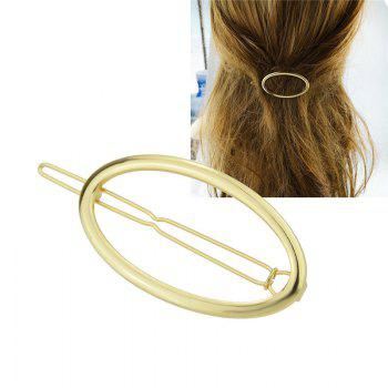 Decorative Alloy Oval Hairpin - GOLDEN GOLDEN