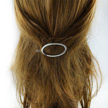 Decorative Alloy Oval Hairpin -  SILVER