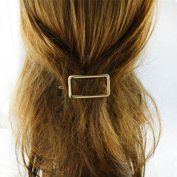 Decoration Alloy Geometric Hairpin - GOLDEN