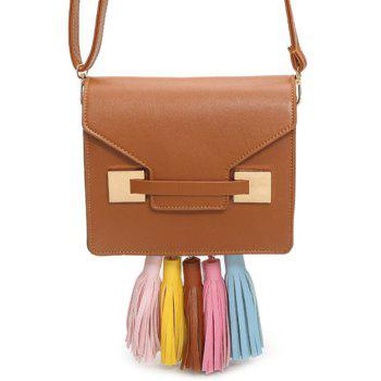 Tassels Metal Detail Crossbody Bag