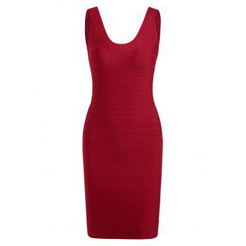 Sleeveless Mini Club Bandage Dress