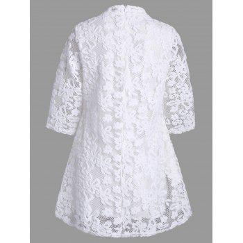 Mock Neck Overlay Min Lace Dress - XL XL