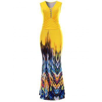 Sleeveless Bodycon Maxi Evening Dress