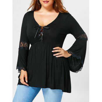 Plus Size Empire Waist Flared Sleeve T-shirt