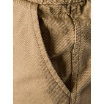 Drawstring Back Pockets Beam Feet Jogger Pants - XL XL