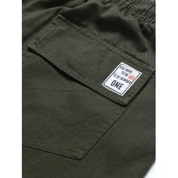 Drawstring Back Pockets Beam Feet Jogger Pants - ARMY GREEN 2XL