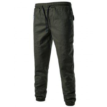Drawstring Back Pockets Beam Feet Jogger Pants