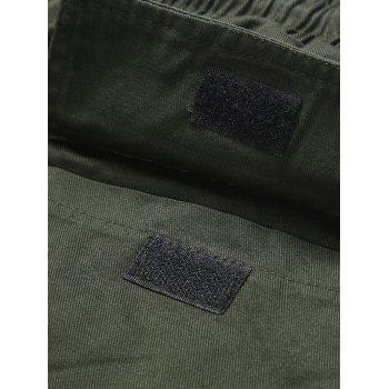 Drawstring Back Pockets Beam Feet Jogger Pants - ARMY GREEN 3XL