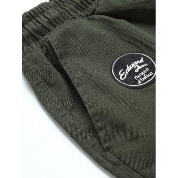 Drawstring Back Pockets Beam Feet Jogger Pants - ARMY GREEN ARMY GREEN