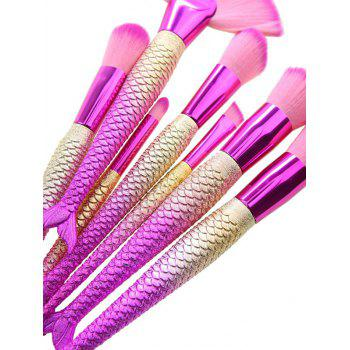 7Pcs Gradient Color Mermaid Design Makeup Brushes Set -  TUTTI FRUTTI