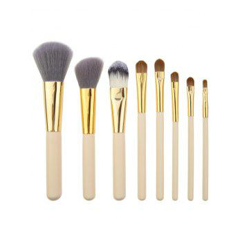 8Pcs Multifunctional Makeup Brushes Set with Bag -  BLACK