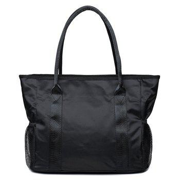 Double Pocket Nylon Shoulder Bag