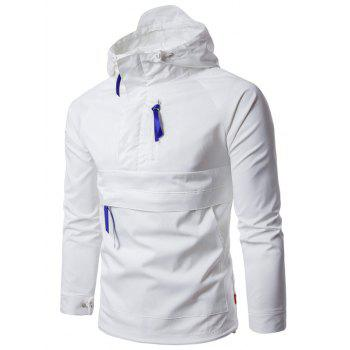 Hooded Pullover Half Zip Lightweight Jacket