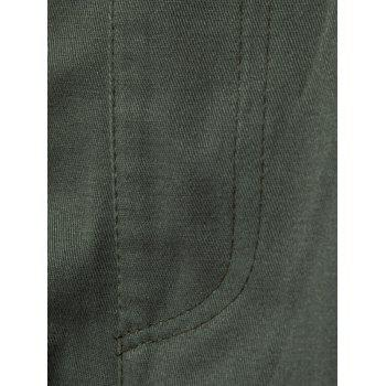 Multi Pockets Drawstring Nine Minutes of Cargo Pants - ARMY GREEN L