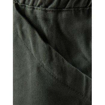 Multi Pockets Drawstring Nine Minutes of Cargo Pants - 3XL 3XL