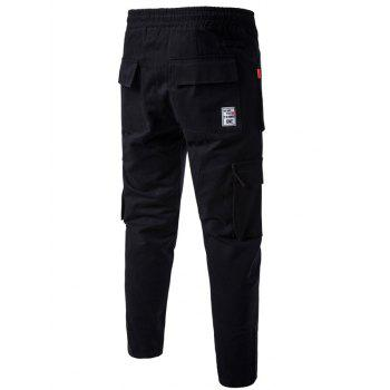 Multi Pockets Drawstring Nine Minutes of Cargo Pants - L L