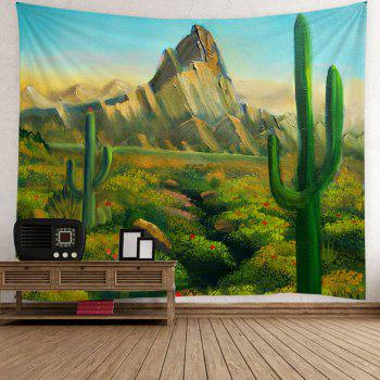 Cactus Hill Painted Wall Hanging Tapestry - Vert W79 INCH * L59 INCH