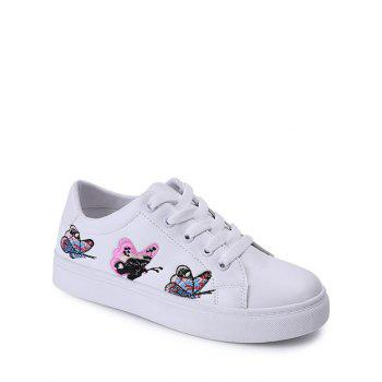 Embroidery Butterfly Pattern Flat Shoes