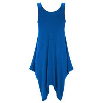 U Neck Long Asymmetrical Tank Top - L L