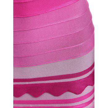Night Out Ombre Robe de bande de couleur - rose S