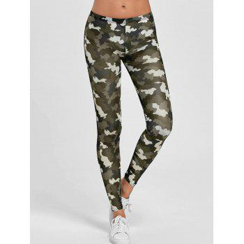 Elastic Camouflage Mesh Gym Leggings