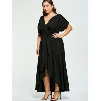 2018 Plus Size Empire Wasit High Low Prom Dress BLACK XL In Dresses ...