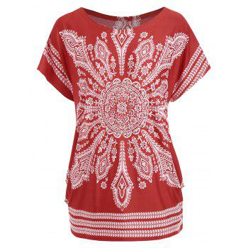 Beaded Tribal Print Tunic T-shirt