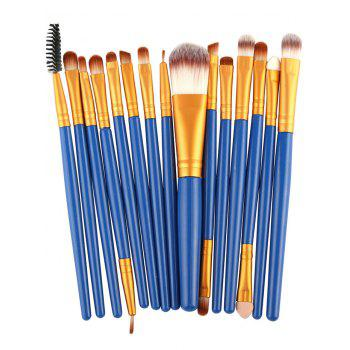 Practical Multifunction 15 Pcs Plastic Handle Nylon Makeup Brushes Set