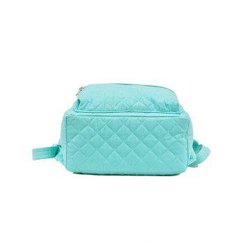Zippers Quilted Backpack - PANTONE TURQUOISE