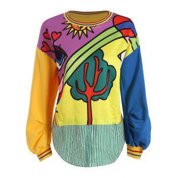 Plus Size Funny Cartoon Pattern Sweatshirt