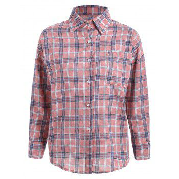 Long Sleeve Plaid Pocket Shirt