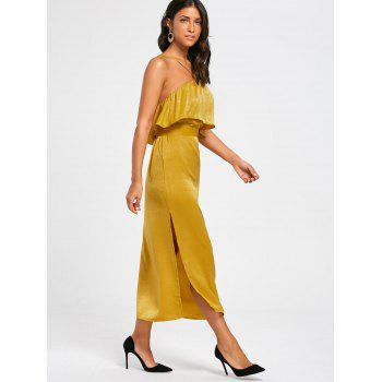 High Slit Long Sleeveless Bodycon Popover Dress - GINGER M