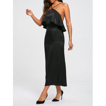 High Slit Long Sleeveless Bodycon Popover Dress