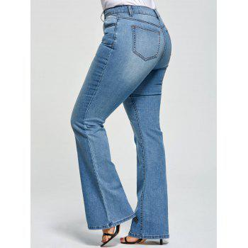 Plus Size Five Pockets Flare Jeans