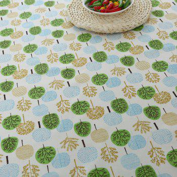 Trees Pattern Kitchen Decor Tablecloth - GREEN GREEN