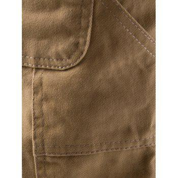 Side Pockets Drawstring Harem Pants - KHAKI KHAKI