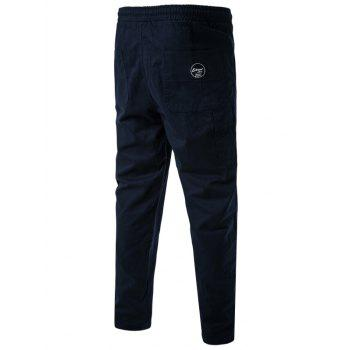 Side Pockets Drawstring Harem Pants - CADETBLUE CADETBLUE