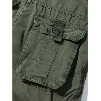 Pockets Embellished Straight Leg Cargo Pants - ARMY GREEN ARMY GREEN
