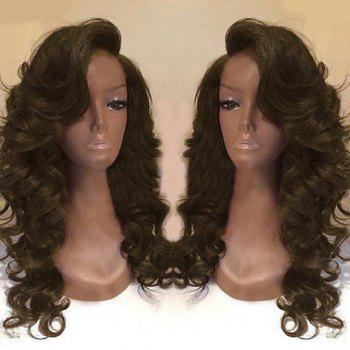 Deep Side Part Body Wave Long Synthetic Wig - BROWN BROWN